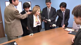 Japanese office, Japanese bdsm, Japanese gangbang, Creampie gangbang, Interview, Japanese bukkake
