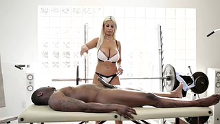 Black, Bridgette b, Bridgette, Black massage, Blonde bbc, Bbc massage