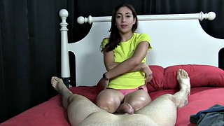 Cum in mouth, Cum in throat, Sally, Sally d, Handjob pov, Mouth cum