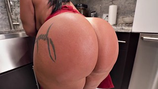 Kitchen, Monica, Brazilian milf, Brazilian ass, Brazilian big ass, Latina big butt