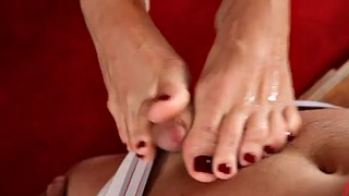 Foot worship, Worship, Milf footjob, Milf foot, Vibrators, Redhead feet