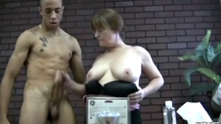 Interracial, Jerky girls, Cfnm handjob, Jerky, Giant cock, Cfnm cumshot