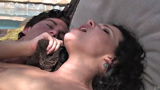 Katy, Katie st ives, Pool sex, Hairy outdoor, Outdoor handjob, Handjob outdoor