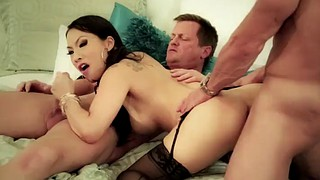 Akira, Threesome anal, Anal asian, Asian double, Asian pornstar, Lingerie fuck