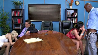 Blacked, Swingers, Alex black, Foursome, Nikki benz, Office sex