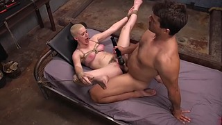 Brutal, Riley, Bondage orgasm, Chubby hairy, Tied and fucked, Chubby fuck