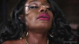 Mistress, Amazon, Big clit, Black milf, Femdom facesitting, Orgasm face