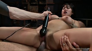 Submissive, Chubby creampie, Asian chubby, Bondage orgasm, Double creampie, Asian double