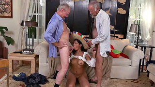 Old men, Old gay, Waitress, Granny threesome, Mexican granny, Granny facial