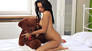 Teen orgasm, Teddy, Teddy bear, Russian strapon, Russian sex, Cute sex