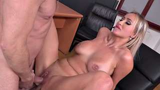 Lara, Bang, Onyx, Russian threesome, Threesome big tits, Office threesome