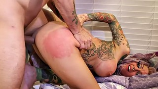 Threesome, Facial, Pierced, Spank bang, Throat gagging, Spanking fingering