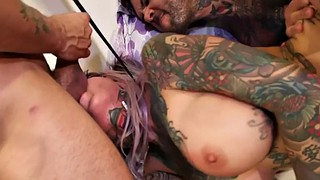 Threesome, Facial, Pierced, Pierce, Spanking fingering, Double spanking