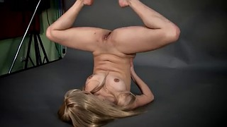 Tricked, Trick, Anna, Acrobatic, Public show, Teen nude