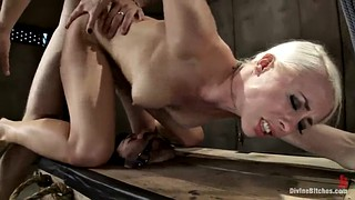 Strapon, Punish, Dominatrix, Slave punishment, Femdom punish, Two slaves