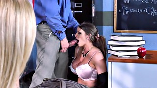 Alexis fawx, Brooklyn chase, Husband watching, Classroom, Husband watches, Husband watch