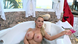 Nikki benz, Hot tub, Benz, Playing, Tub, Big tits tease