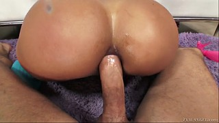 Pov, Brazilian, Abby, Both holes, Oil anal, Meaty