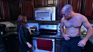 Kitchen, Diamond foxxx, Best friend, Son seduce, Sons friends, Seduce son