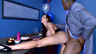 Nikki benz, Benz, Office milf, Huge ebony, Ebony office, Huge cock huge tits