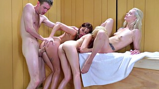 Sauna, Elsa, Teen gangbang, Piper, In, Piper perry
