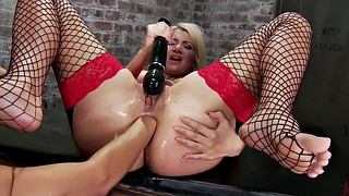 Humiliation, Lesbian slave, Anal mature, Face, Anal fist, Lesbian sex