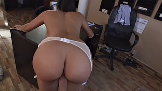 Big ass, Cum in pussy, Doggy style, Mercedes, Chubby latina, Cum in throat