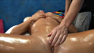 Surprise, Surprised, Surprise fuck, Massage oil, Surprise massage, Teen fucked
