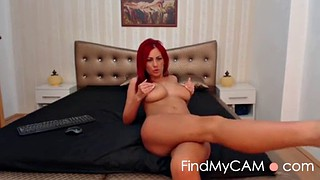 Webcam, Red, Strip tease, Red hair, Sexy hot, Big butt striptease