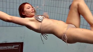 Beach, Underwater, Czech, Bouncing tits, Bouncing boobs, Czech amateurs