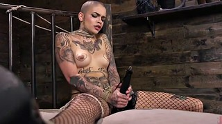 Tied, Machine, Tattoo, Fucking machine, Machine anal, Tied and fucked