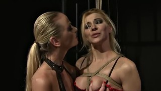 Nipple, Red, Bombshell, Restrained, Red lingerie, Casting bdsm