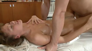 Teen, Oiled, Hot babe, Body massage, Rubbed, Massage body