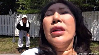Asian milf, Double blowjob, Japanese hot, Asian guy, Japanese doggy, Japanese outdoor