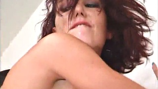 Mmf, Nancy, Nancy a, Washroom, Double facial, Anal finger