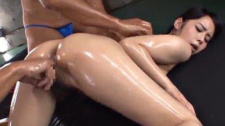Double, Asian guy, Asian threesome, Kana, Asian bukkake, Asian bikini
