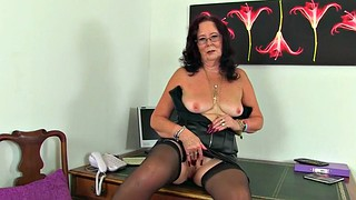 Leather, Gilf, British mature, British granny, British milf, Mature british