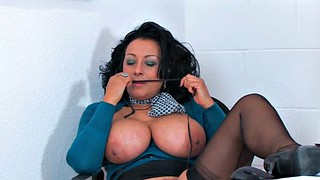 Danica collins, Mature big tits, Call, At work, Working, Big tits at work