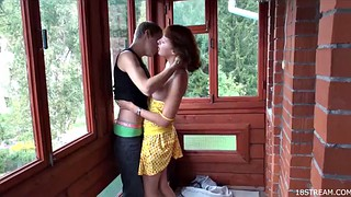 Rough, Small tits teen, Porch, Outdoor rough, Teen rough sex, Teen teen