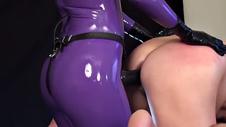 Strapon, Purple, Latex strapon, Latex sex, Strapon latex