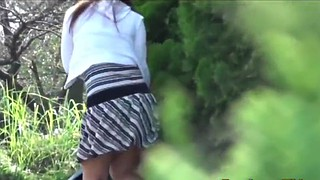 Outside, Public pee, Asian outdoor, Asian voyeur, Pee public, Voyeur pee