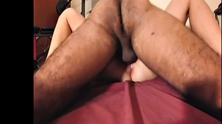 Cumming, Hairy wife, Squeeze, Interracial missionary, Hairy interracial, Push