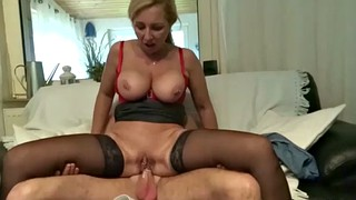 Mom help, Help, Mom helps, Mom caught, Caught jerking, Big tits mom