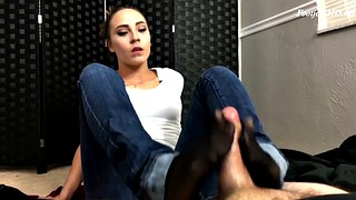 Footjob, Sexy feet, Stocking footjob, Stocking feet, Stockings footjob, Stockings feet