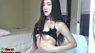 Korean bj, Japanese solo, Fishnet, Asian webcam, Japanese masturbation, Solo stockings