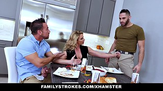 Stepson, Phoenix marie, Mary, Dad threesome, Daddy fuck, Dad fuck