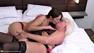 Old and young, Gilf, Mature lesbian, Lesbian mature, Young and old, Old and young lesbians