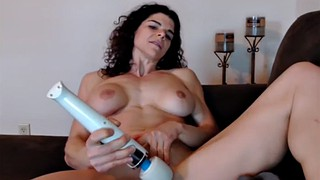 Fingering, Hitachi, Beauty with big tits