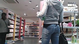 Jeans, Candid, Candid ass, Teen compilation, Big ass compilation, Candid teen