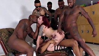 Interracial, Deep throat, Anal gangbang, Redhead anal, Amber ivy, Group anal
